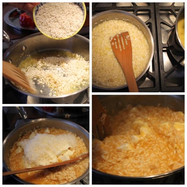Tómat og mozzarella risotto