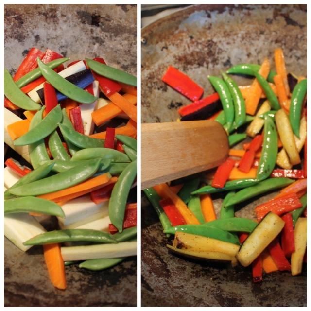 wok grænmeti