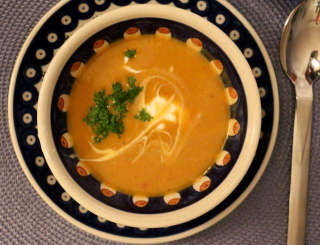 Sætkartöflu súpa með inversku ívafi